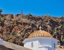 Kopuła kościół Chrystus w łańcuchach, Monemvasia, Grecja fotografia royalty free