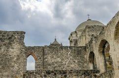 Kopuła kościół przy misją San Jose w San Antonio, Teksas Obrazy Stock