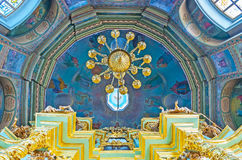 Kopuła kościół Smolensk ikona matka bóg, St Sergius Zdjęcie Royalty Free