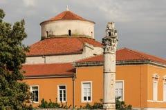 Kopuła kościół St Donat Zadar Chorwacja obraz royalty free