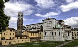 Kopuła Lucca. Duomo di Lucca, Tuscany, Włochy fotografia royalty free