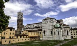 Kopuła Lucca, Duomo di Lucca, Tuscany, Włochy fotografia stock
