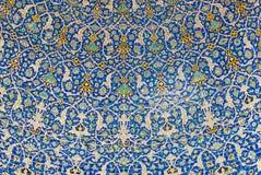 Kopuła meczet, orientalni ornamenty, Isfahan zdjęcia stock