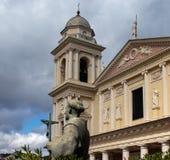 Kopuła Porto Maurizio w prowincji Imperia obrazy royalty free