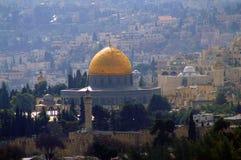 Kopuła skała i inni Muzułmańscy budynki w centrum Jerozolima, Izrael, Środkowy Wschód zdjęcie royalty free