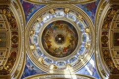 Kopuła St Isaac katedra od wśrodku Świątobliwego Petersburg zdjęcie royalty free