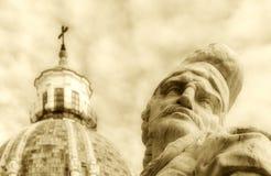 Kopuła twarz stary człowiek i kościół Fotografia Stock