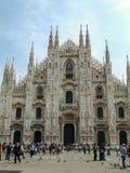 Kopuła w Milano z kwadratem (Mediolańska katedra) Zdjęcia Royalty Free