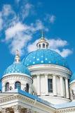 Kopuły świątobliwa trinity katedra w Petersburg Obrazy Stock