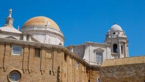 Kopuły Cadiz Katedra Zdjęcia Stock