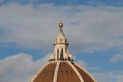 Kopuły ` s czerep Florencja katedra tuscany Włochy Obrazy Royalty Free
