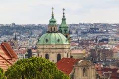 Kopuły St Nicholas kościół, Praga zdjęcie royalty free