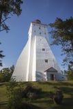 Kopu灯塔在希乌马岛海岛,爱沙尼亚 免版税库存图片