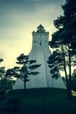 Kopu fyr i den Hiiumaa ön, Estland Royaltyfria Bilder