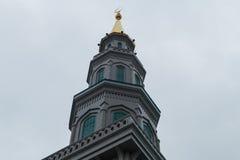 Kopuła meczet w Moskwa w chmurnej pogodzie Obrazy Royalty Free