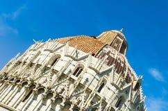 Kopuła Pisa Baptistery St John Fotografia Royalty Free