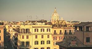 Kopuła San Carlo al Corso bazylika, Rzym zdjęcie royalty free
