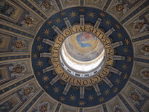 Kopuła St Peter bazylika from inside Obrazy Stock
