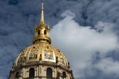 Kopuła Szpitalni les invalides Paryscy Fotografia Stock