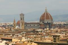 kopuły duomo Florence widok Obrazy Royalty Free