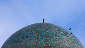 kopuły Isfahan meczet Obraz Stock