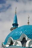 kopuły Kazan Kremlin meczetu qolsharif Zdjęcie Royalty Free