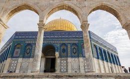 Kopuła na skale na Świątynnej górze jervis Izrael Fotografia Royalty Free