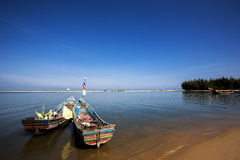 Kor-Lae boat Pattani Stock Images