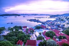 Kor Sri Chang , Sri Chang Island. Shoot On the top of the mountian Stock Images