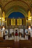 Kor- synagoga för Moskva, in - mellan bönerna var tom färg Fotografering för Bildbyråer