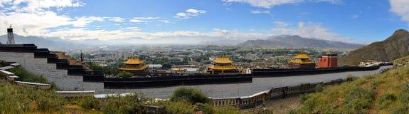 Kora av Tashilunpo kloster n Shigatse, Tibet Arkivfoton