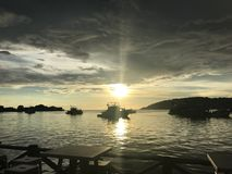Kora Kinabalu Sunset fotos de stock royalty free