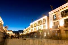 Kora Przy nocą Przy Jokhang Świątynny Lhasa Tybet Obraz Royalty Free