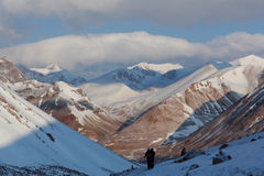 Kora runt om Kailash, Tibet Royaltyfri Fotografi