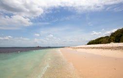 Koraalstrand op het Nationale Park van het Duifeiland enkel van de kust van Trincolamee Sri Lanka royalty-vrije stock foto