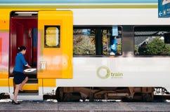 Korail Central Inland Tourist train, O-Train at Cheoram station royalty free stock photos