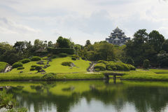 Koraku en庭院,冈山 库存图片