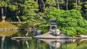 Koraku-en garden in Okayama Royalty Free Stock Images