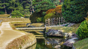 Koraku-en garden in Okayama on of the three great gardens in Stock Photos