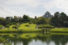 Koraku-en trädgård, Okayama Fotografering för Bildbyråer