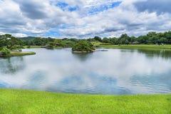 Korakuen, японский сад в Okayama, Японии Стоковое фото RF