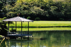 Korakuen i Okayama Arkivfoton