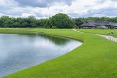 Korakuen, japanischer Garten in Japan Stockbild