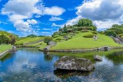 Korakuen, Japanse tuin in Japan stock foto's