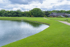 Korakuen, jardin japonais au Japon Image stock