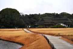 Korakuen. One of the 3 most beautiful gardens in Japan, located in Okayama city Stock Photo