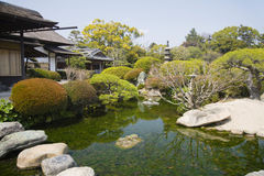 Korakuentuin in Okayama royalty-vrije stock afbeeldingen