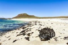 Koral plaża na wyspie Skye zdjęcia stock