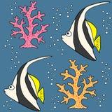 Koral ryba set Obraz Stock