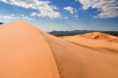 Korala piaska różowa diuna Obraz Royalty Free